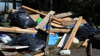Pile of illegally dumped waste (Fiona Hanson/PA)
