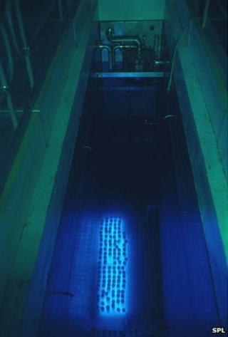 Nuclear waste storage pool