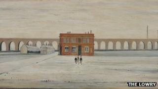 The Viaduct by LS Lowry (detail)