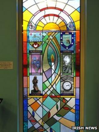 The stained glass window has been unveiled in Madrid