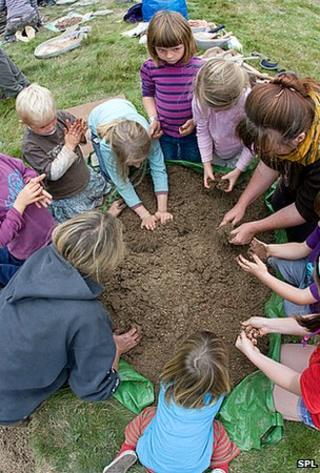 """Nature lesson"" for children"