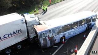 Crash on M5 motorway