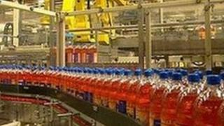 Irn Bru production line