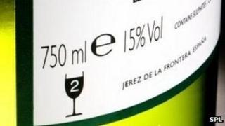 Alcohol units label