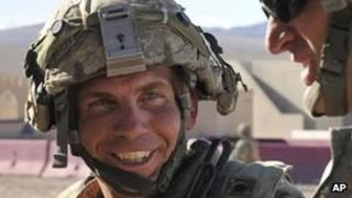 Staff Sgt Robert Bales participating in military training at Fort Irwin, California 23 August 2011