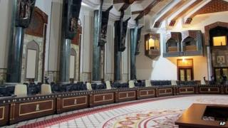 Interior of palace used to host Arab League summit in Baghdad (22 March 2012)