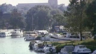 Beccles from the River Waveney