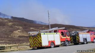 Fire crews in Wester Ross. Pic: Iain MacDonald