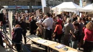 Protest rally in Nottingham