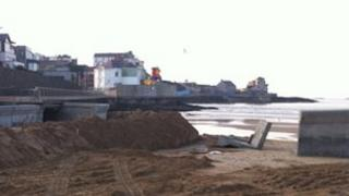 Work is under way to repair the promenade in time for the summer season