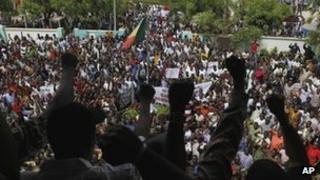 Junta supporters in Bamako (29/03/12)