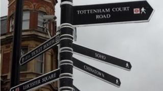 West End signpost