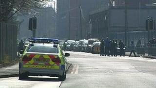 Police car on Upper Brook Street