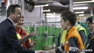 Prime Minister David Cameron meets apprentices