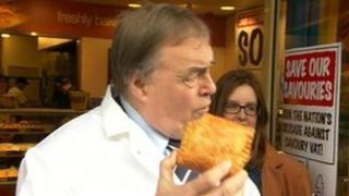 John Prescott with pasty