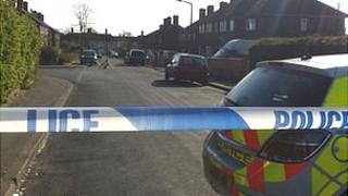 The crime scene in St Martin's Road, Rose Hill, Oxford