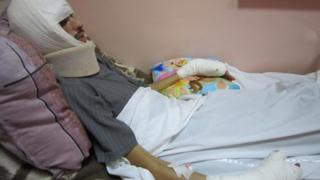 Mahmoud, 26-year-old protester, in hospital in Casablanca