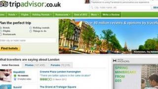 Trip Advisor website
