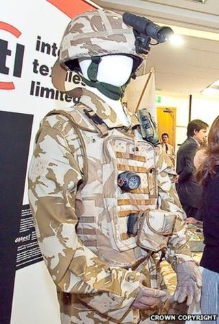 Intelligent Textiles uniform Crown Copyright