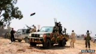 Fighters congregating near Zuwara, TV stills