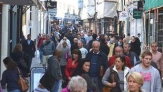 King Street shoppers in St Helier