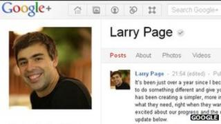 Larry Page Google+ page
