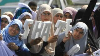 Supporters of Khairat al-Shater - 5 April