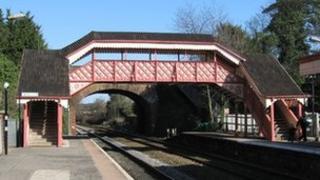 Hagley footbridge