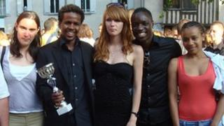 Students at Clichy School of Second Chance