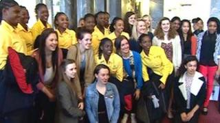 Photocall for Jamaican under-16 netball squad