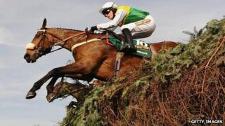 Ballabriggs leaps to victory in last year's Grand National