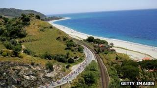 The Tour of Italy cycle race goes along the Caldaria coast, file picture