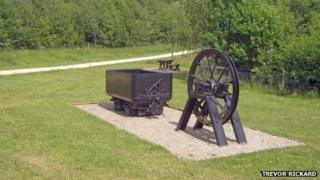 Mining memorial at Colliers Wood Park