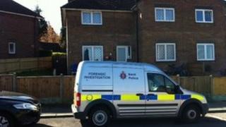 Police forensic investigation vehicle in Rankine Road, Tunbridge Wells