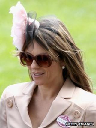 Elizabeth Hurley wearing a fascinator in the Royal Enclosure in 2011