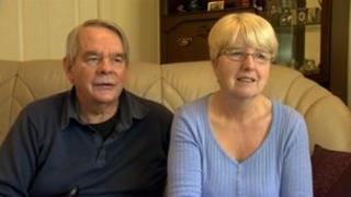 David Lamb with his wife Geraldine