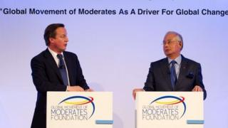 David Cameron and Najib Abdul Razak