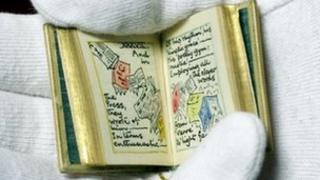 Miniature book made for Queen Mary's dolls house at Windsor Castle