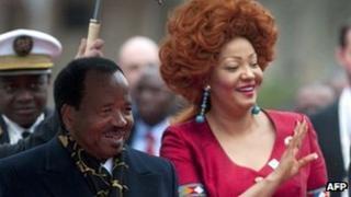 President Paul Biya of Cameroon and his wife Chantal