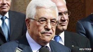 Mahmoud Abbas in Amman (25 January 2012)