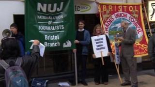 NUJ protest in Bristol