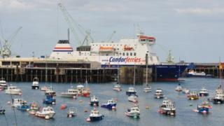 Commodore Clipper in St Peter Port Harbour