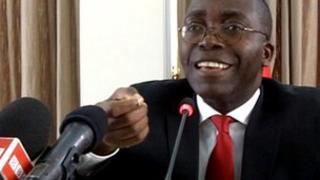 Augustin Matata Ponyo speaking to the BBC, January 2012