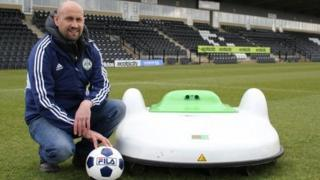 Stuart Ward and the robotic lawn mower