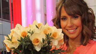 Alex Jones with her daffodils