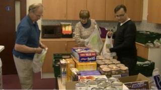 Picture showing foodbank at Darlington