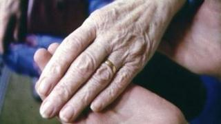 Elderly person's hand