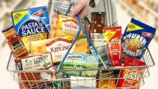 Basket with Premier Food brands