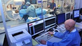 Patient getting heart treatment at the Worcestershire Royal Hospital