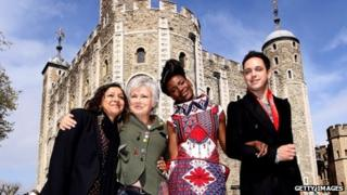 Meera Syal, Julie Walters and The Noisettes attend the London 2012 Festival Programme Launch at Tower of London on April 26